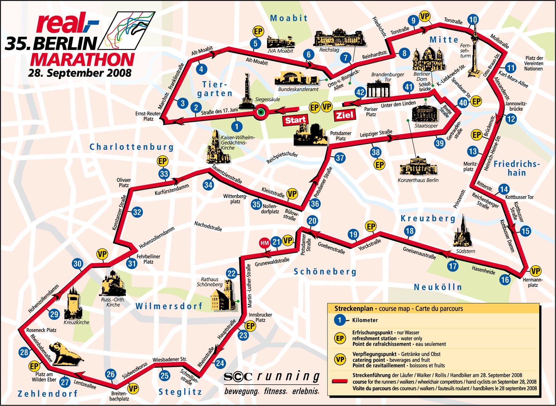 Marathon Berlin Strecke