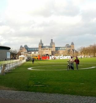 Zwar nicht der Vondelpark, aber immerhin lässt sich doch ganz gut erkennen, in welcher Stadt das Foto aufgenommen worden ist