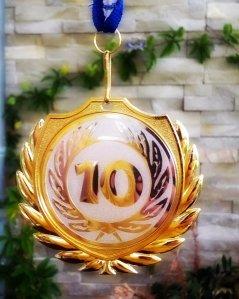Geschafft - die Jubiläums-Medaille